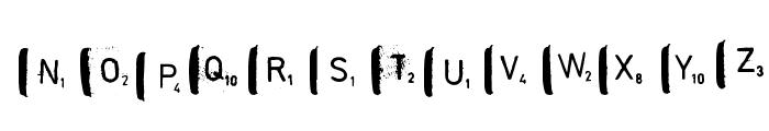 scrabble Font LOWERCASE