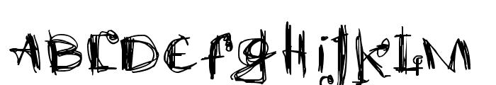 scretch Font LOWERCASE
