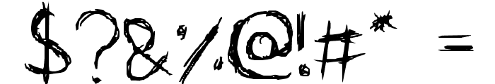 scri-bubble Font OTHER CHARS