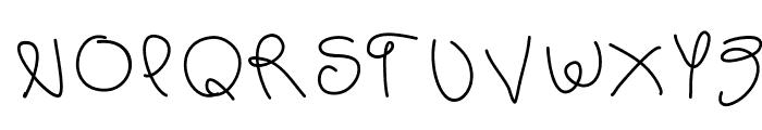 scribb Font UPPERCASE