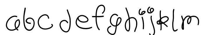 scribb Font LOWERCASE
