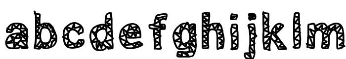 scribbled Font LOWERCASE