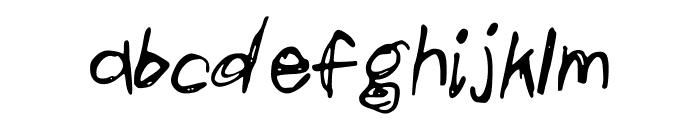scribblesandgiggles Font LOWERCASE