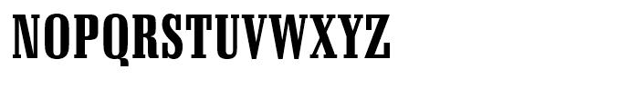Schadow Black Condensed Font UPPERCASE