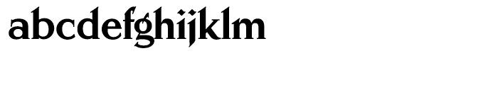 Schiller Antiqua Extra Bold Font LOWERCASE