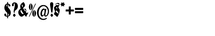 Schmale Anzeigenfraktur Regular Font OTHER CHARS
