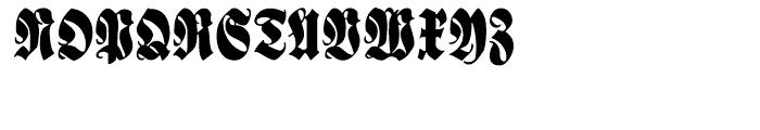 Schmale Anzeigenfraktur Regular Font UPPERCASE