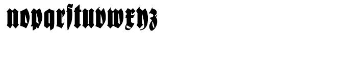 Schmale Anzeigenfraktur Regular Font LOWERCASE