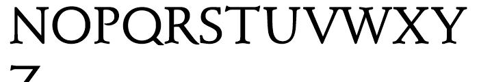 Schneidler Mediaeval Discaps Medium d Font UPPERCASE