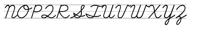 School Script Lined Font UPPERCASE