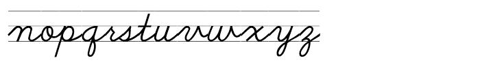 School Script Lined Font LOWERCASE