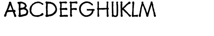 Schoolblock Light Font UPPERCASE