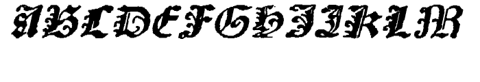 Scoto Koberger Fraktur N9 Italic Font UPPERCASE