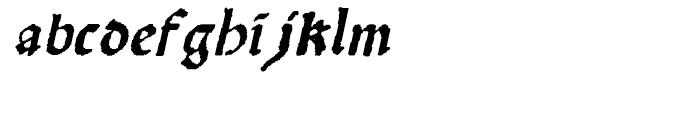 Scoto Koberger Fraktur N9 Italic Font LOWERCASE
