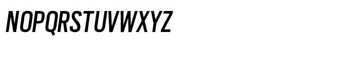 Scout Condensed Regular Italic Font UPPERCASE