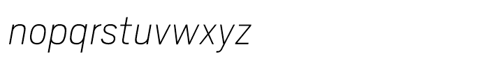 Scout Thin Italic Font LOWERCASE