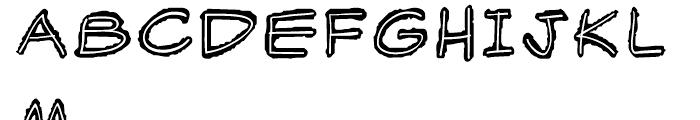 Scratchpad Regular Font UPPERCASE
