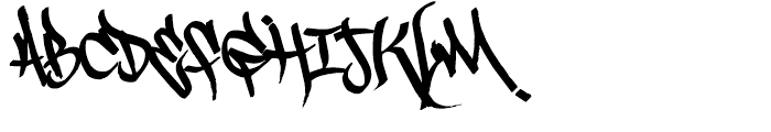Scrawler 3rd Font UPPERCASE