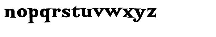 Screwby Black Font LOWERCASE