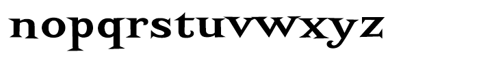 Screwby Wide Bold Font LOWERCASE