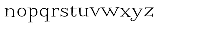 Screwby Wide Light Font LOWERCASE