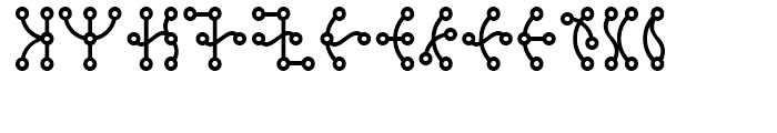 Scriba Regular Font UPPERCASE