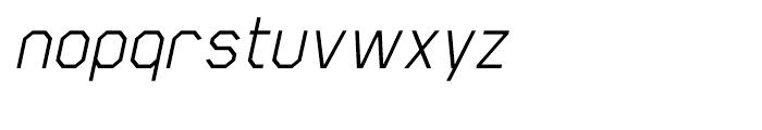 Scriber Italic Font LOWERCASE