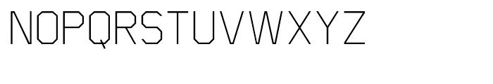 Scriber Thin Font UPPERCASE