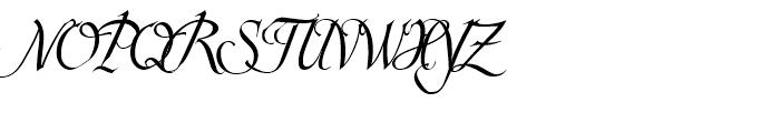 Scriptissimo Start Font UPPERCASE