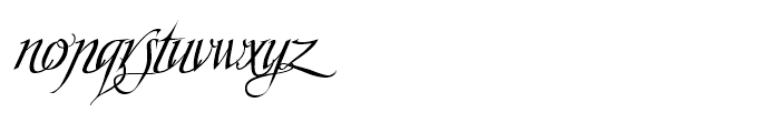 Scriptissimo Start Font LOWERCASE
