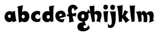 SCRIPT1 Toon Casual DTP Regular Font LOWERCASE