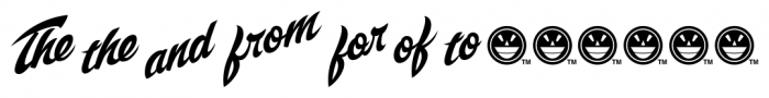 SCRIPT1 Voodoo Script Extras Font LOWERCASE