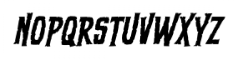 ScreamQueen Thin BB Italic Font LOWERCASE