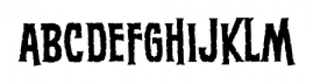 ScreamQueen Thin BB Regular Font LOWERCASE