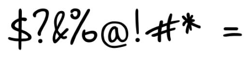 Script Breeze Regular Font OTHER CHARS