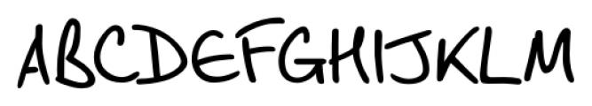 Script Breeze Regular Font UPPERCASE