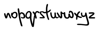 Script Breeze Regular Font LOWERCASE