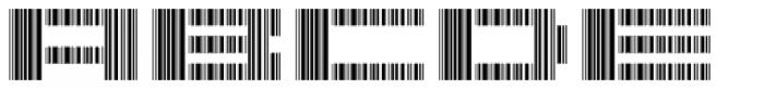 Scan Font UPPERCASE