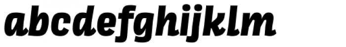 Scarlet Extra Bold Italic Font LOWERCASE