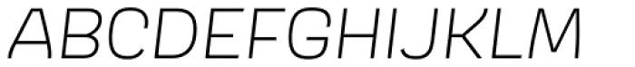 Scarlet Light Italic Font UPPERCASE
