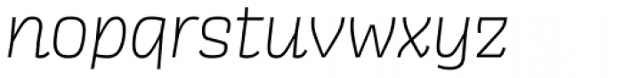 Scarlet Light Italic Font LOWERCASE