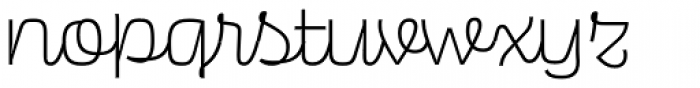 Scarlet Script Light Font LOWERCASE