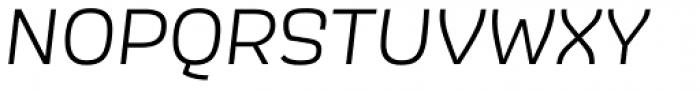 Scarlet Semi Light Italic Font UPPERCASE