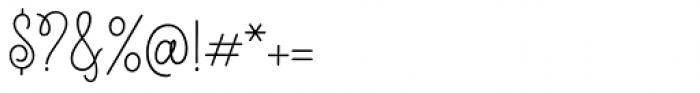 Scarlette Script Regular Font OTHER CHARS