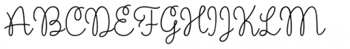 Scarlette Script Regular Font UPPERCASE