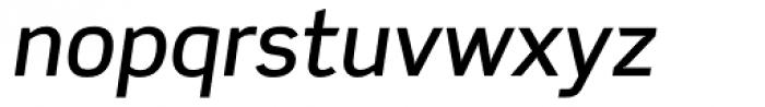Scene Medium Italic Font LOWERCASE