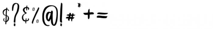 Schiffen Script Sans Font OTHER CHARS