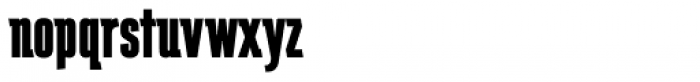 Schindler RR ExtraBold Font LOWERCASE