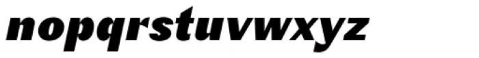 Schism Three Black Italic Font LOWERCASE