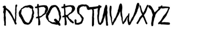 Schlub Font UPPERCASE